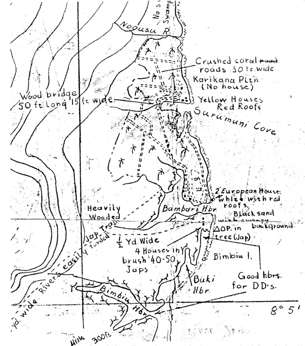 Daniel Noorlander's hand-drawn map