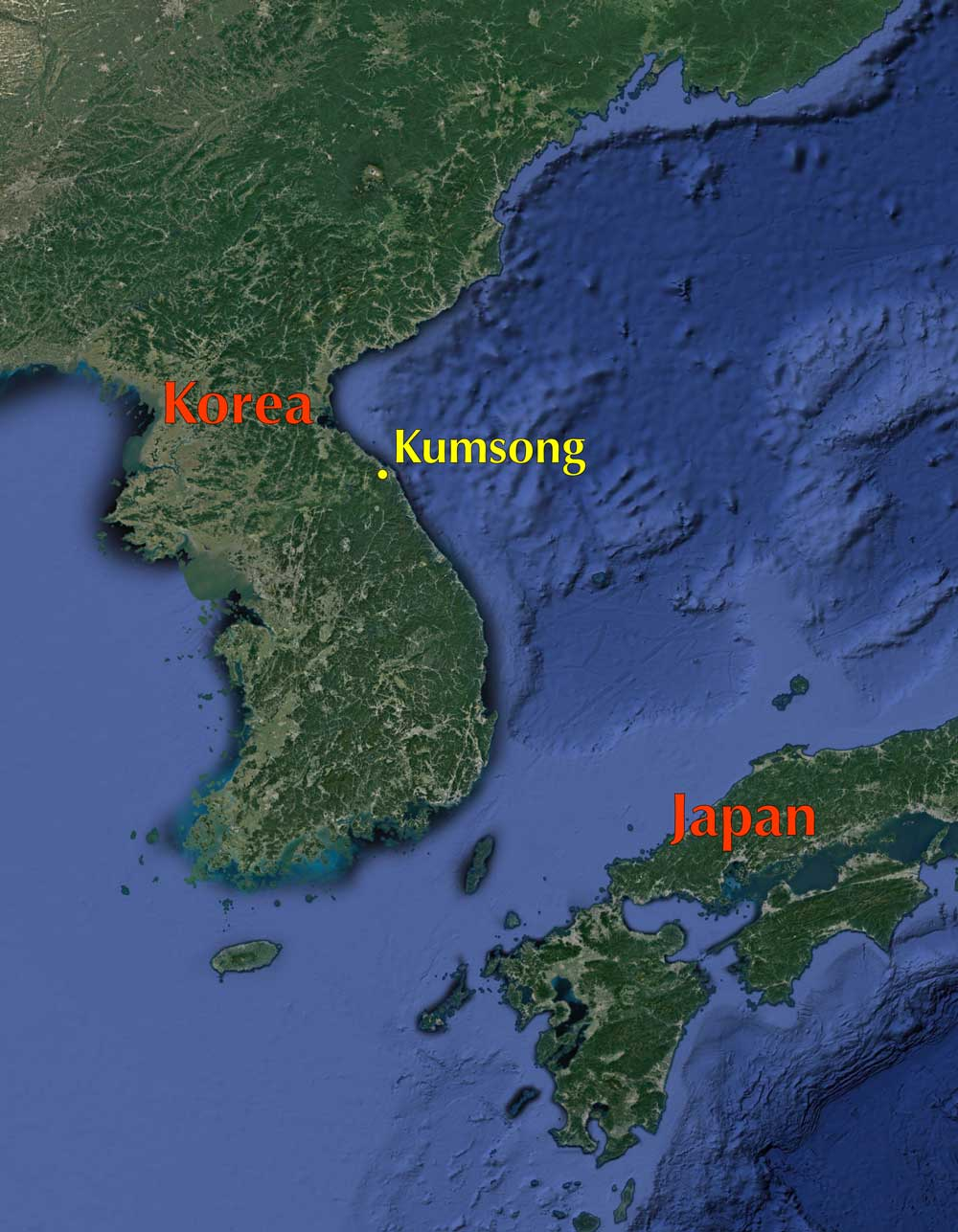 Google Map of Korea